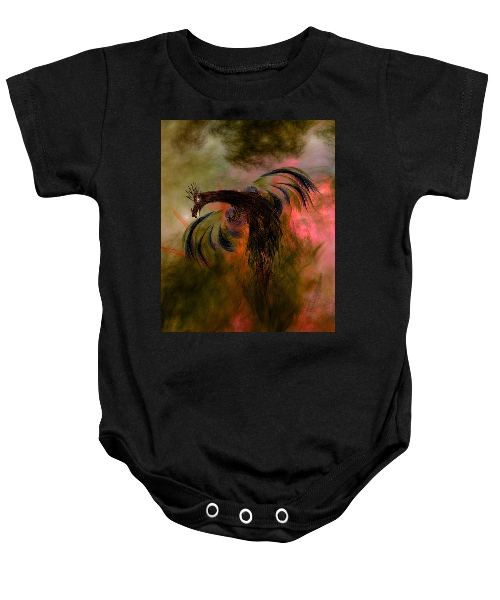 Ashes Baby Onesie featuring the digital art Flight Of The Phoenix by Carol and Mike Werner