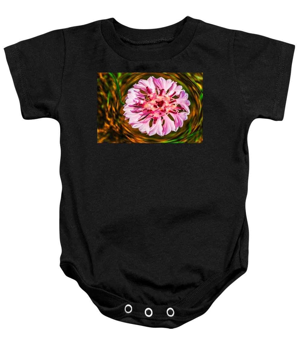 Blue Baby Onesie featuring the painting Floating In Time by Omaste Witkowski