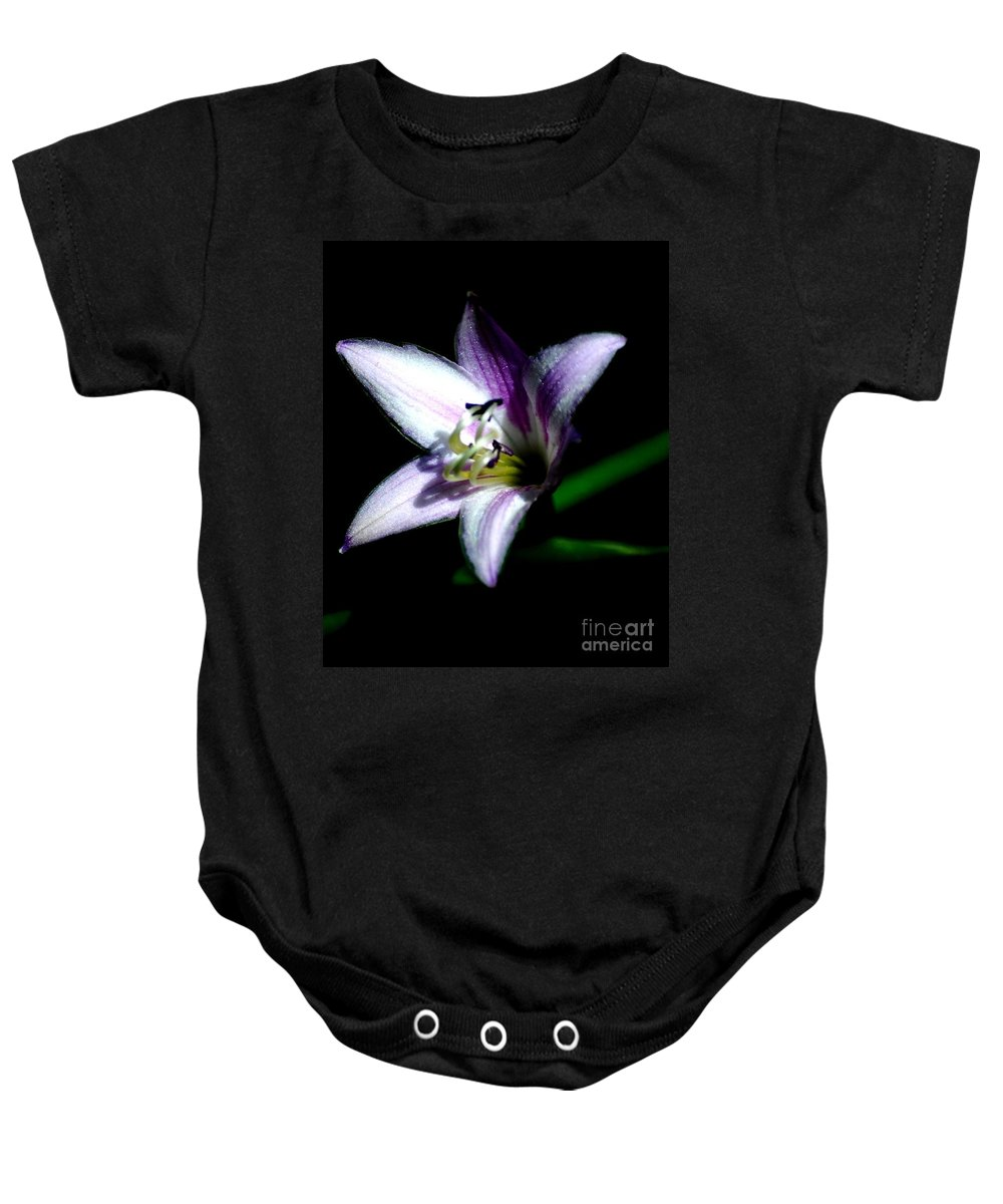Digital Photograph Baby Onesie featuring the photograph Floral 7-24-09 by David Lane