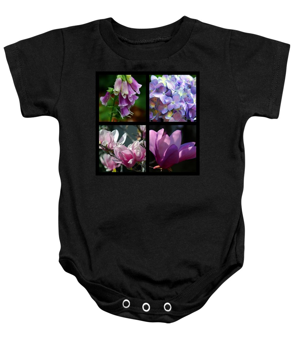 Floral Beauties Baby Onesie featuring the photograph Floral Beauties by Susanne Van Hulst