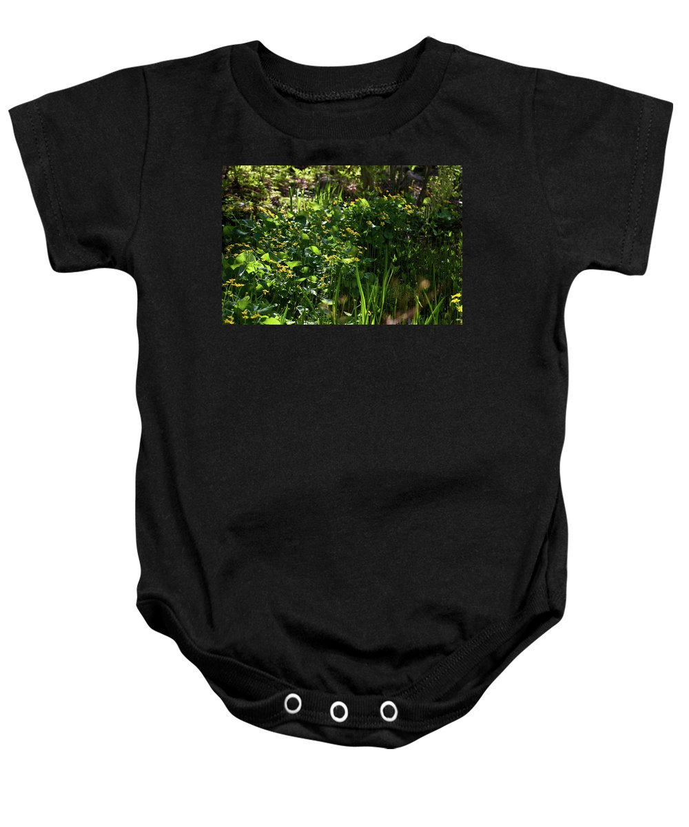 macro Photography Baby Onesie featuring the photograph Floral Border by Paul Mangold