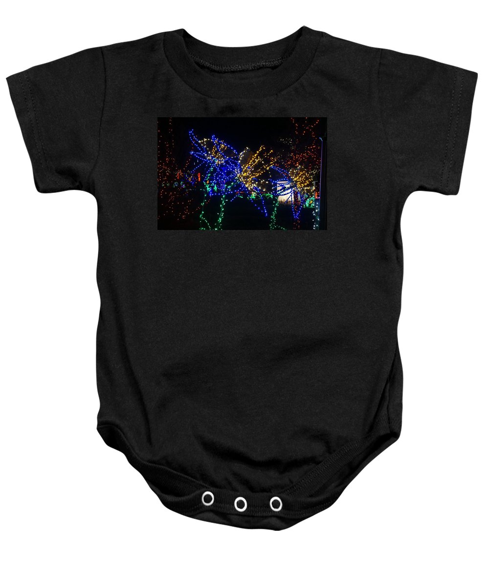 Winter Baby Onesie featuring the photograph Floral Lights by Susan Brown