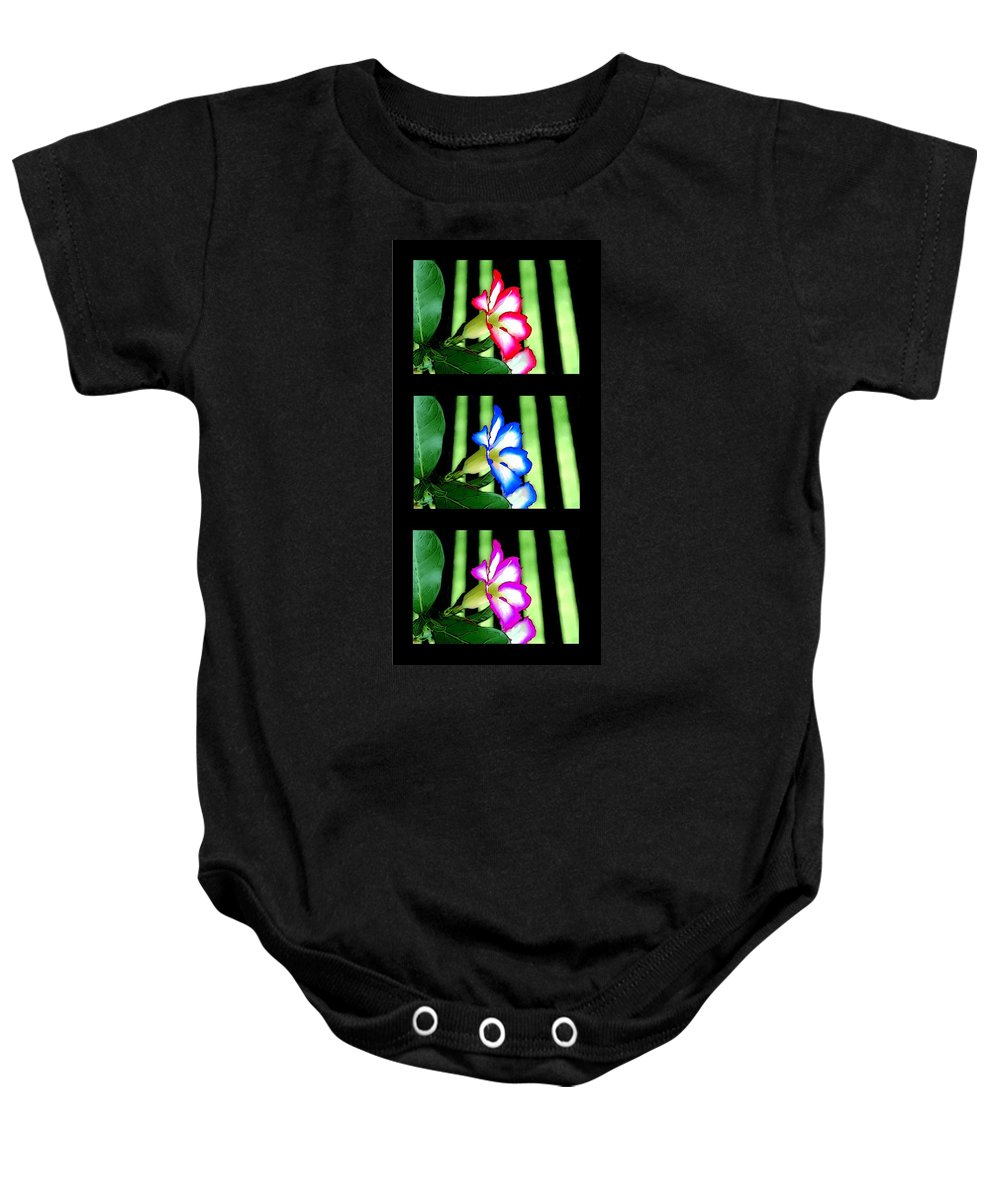 Flower Baby Onesie featuring the painting Floral Triptych by Bruce Nutting