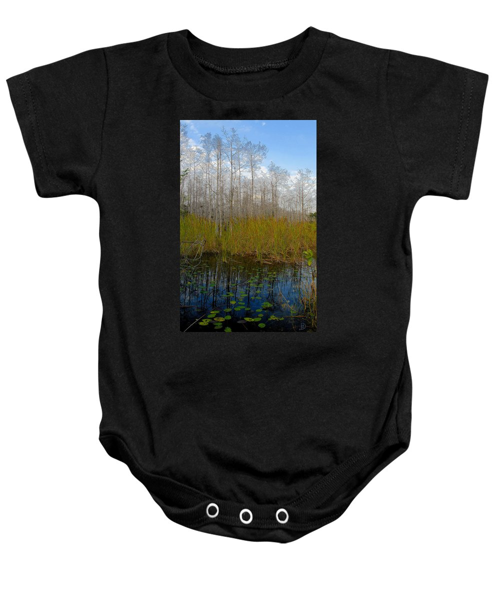 Florida Baby Onesie featuring the painting Florida Wilderness by David Lee Thompson