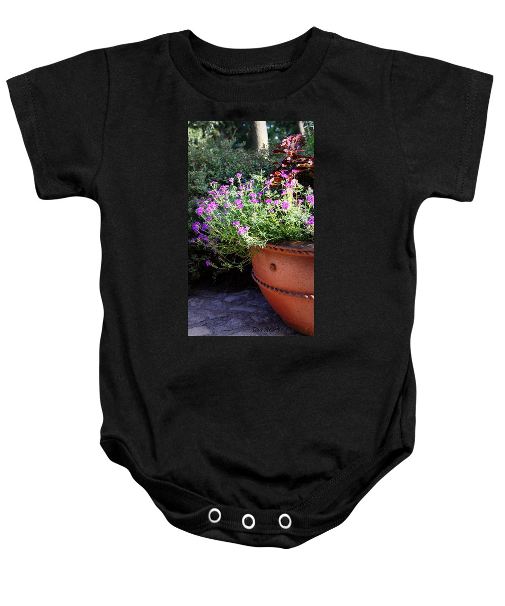 Flower Baby Onesie featuring the photograph Flower Pot by Tina Meador