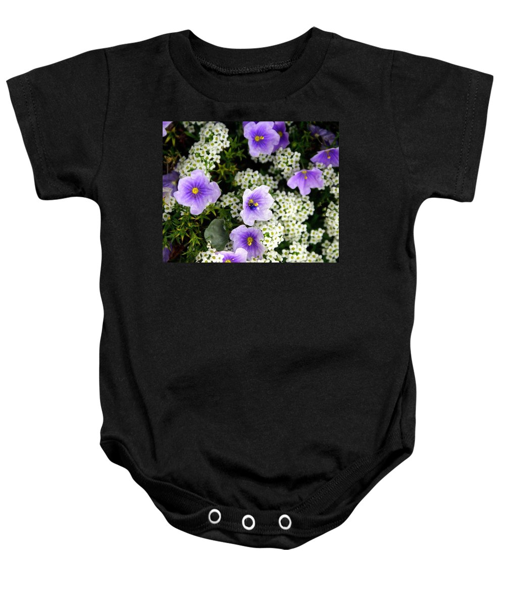 Flowers Baby Onesie featuring the photograph Flowers Etc by Marty Koch