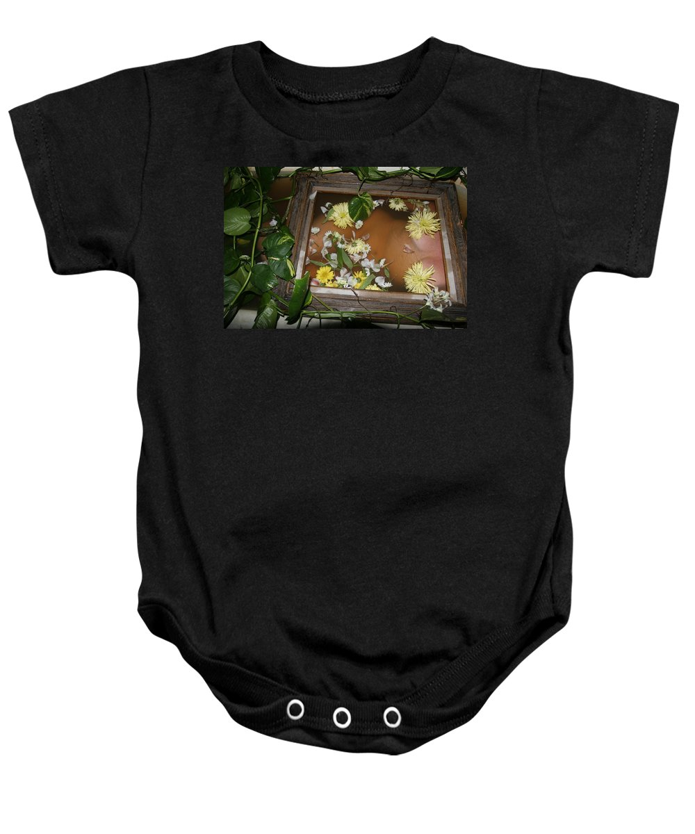 Lucky Cole Everglades Photographer Female Nude Everglades Baby Onesie featuring the photograph Flowers by Lucky Cole