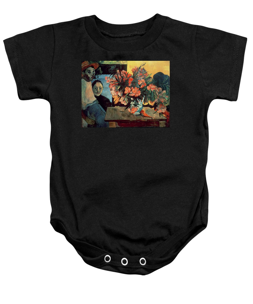 Te Tiare Farani (flowers Of France) Baby Onesie featuring the painting Flowers Of France by Paul Gauguin