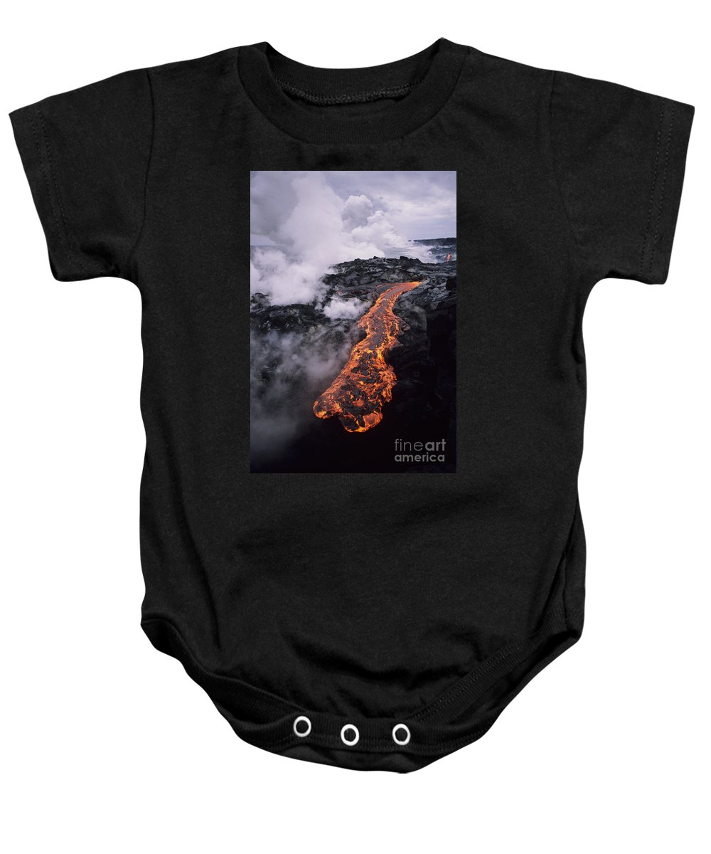 Active Baby Onesie featuring the photograph Flowing Towards Ocean by Ron Dahlquist - Printscapes