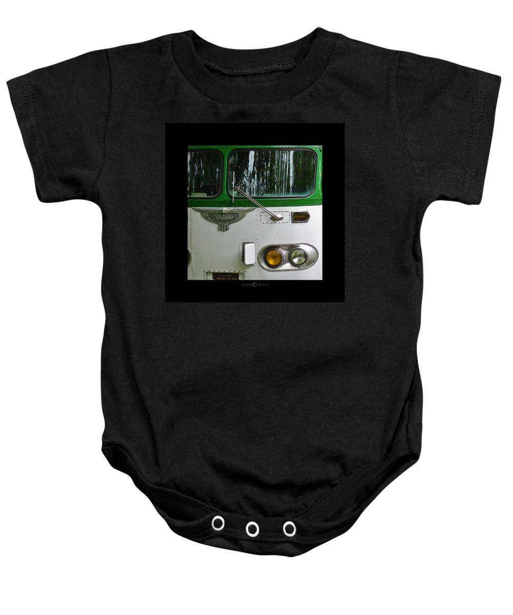 Flxible Baby Onesie featuring the photograph Flxible by Tim Nyberg