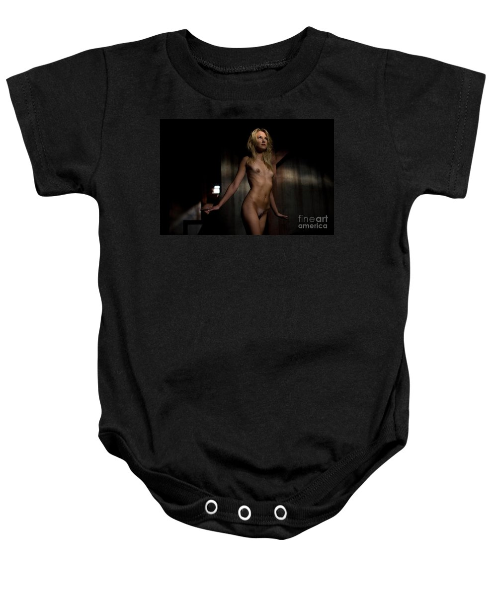 Sensual Baby Onesie featuring the photograph Fly Angel by Olivier De Rycke