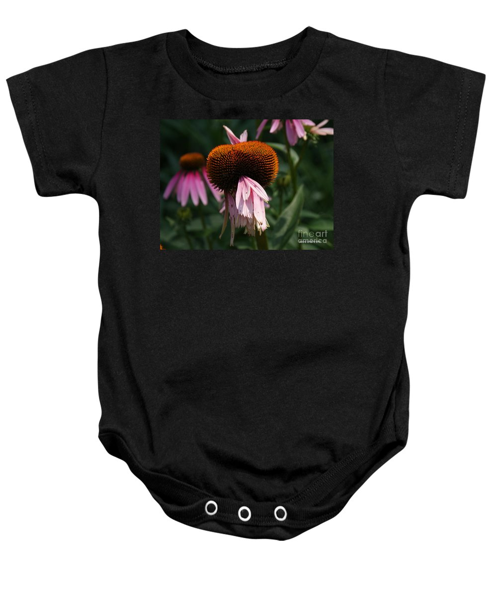 Floral Baby Onesie featuring the photograph Fly Eyes by Shelley Jones