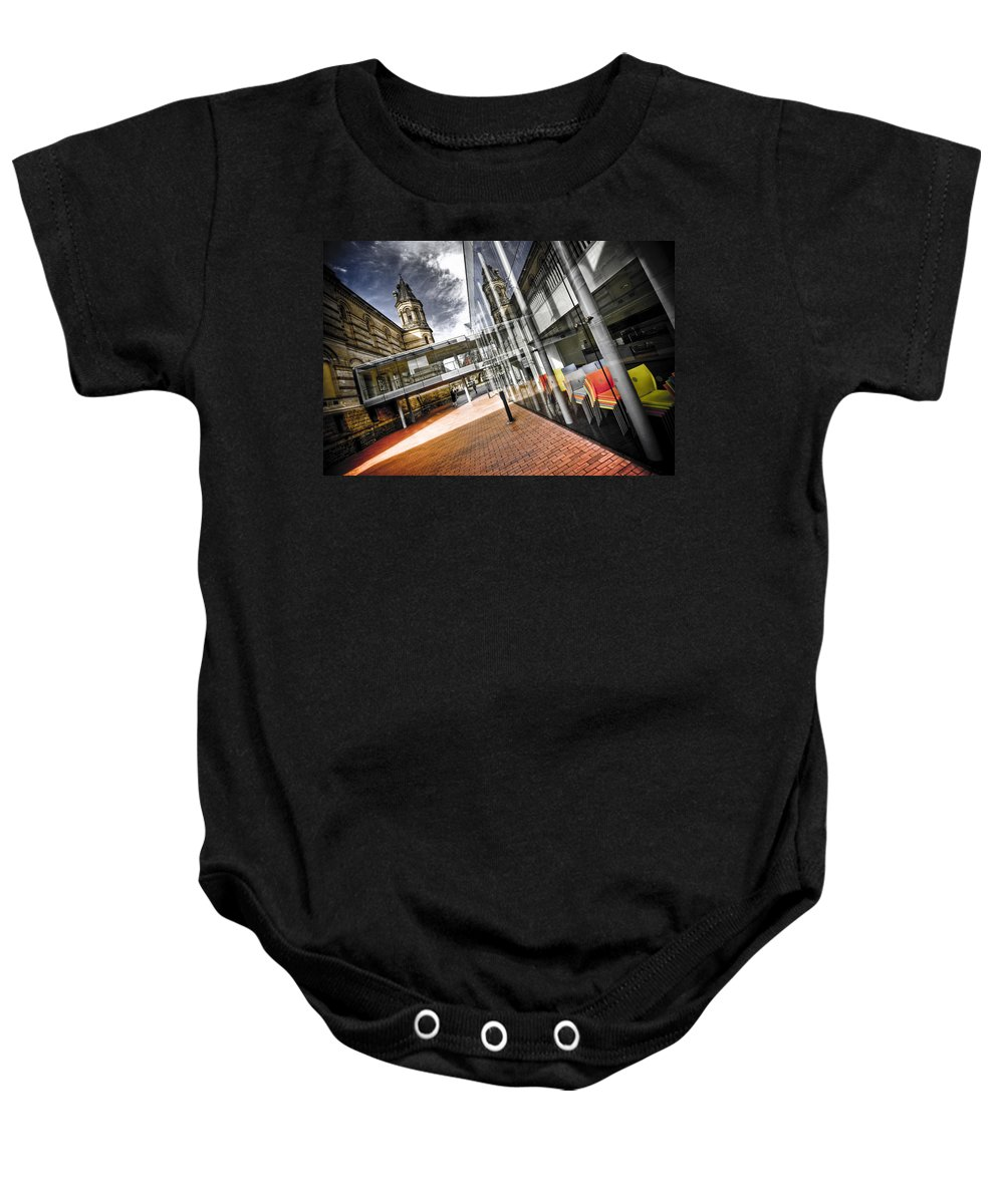 Flyover Baby Onesie featuring the photograph Flyover by Wayne Sherriff