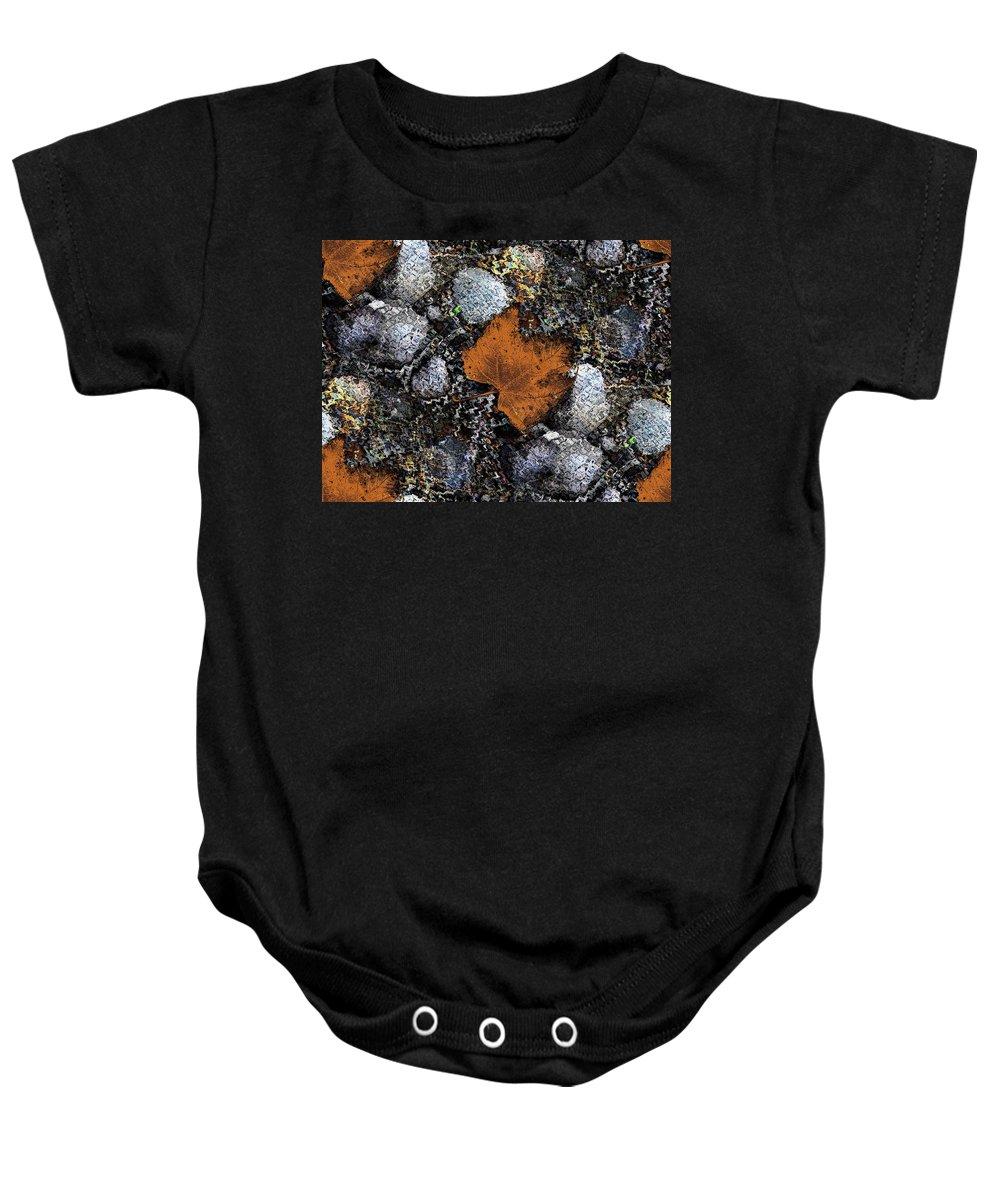 Foliage Baby Onesie featuring the digital art Foliage Flotilla by Tim Allen