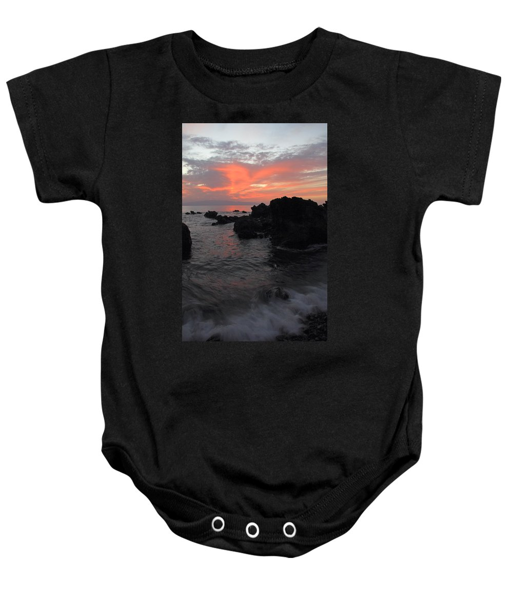 Seascape Baby Onesie featuring the photograph Fonsalia Red by Phil Crean