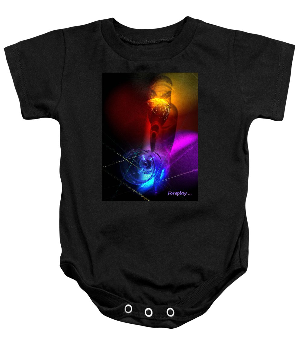 Fantasy Baby Onesie featuring the photograph Foreplay by Miki De Goodaboom