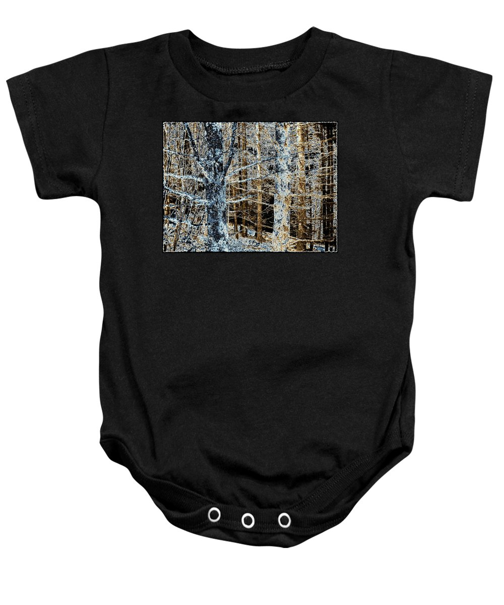 Forest Baby Onesie featuring the digital art Forest Calm by Will Borden