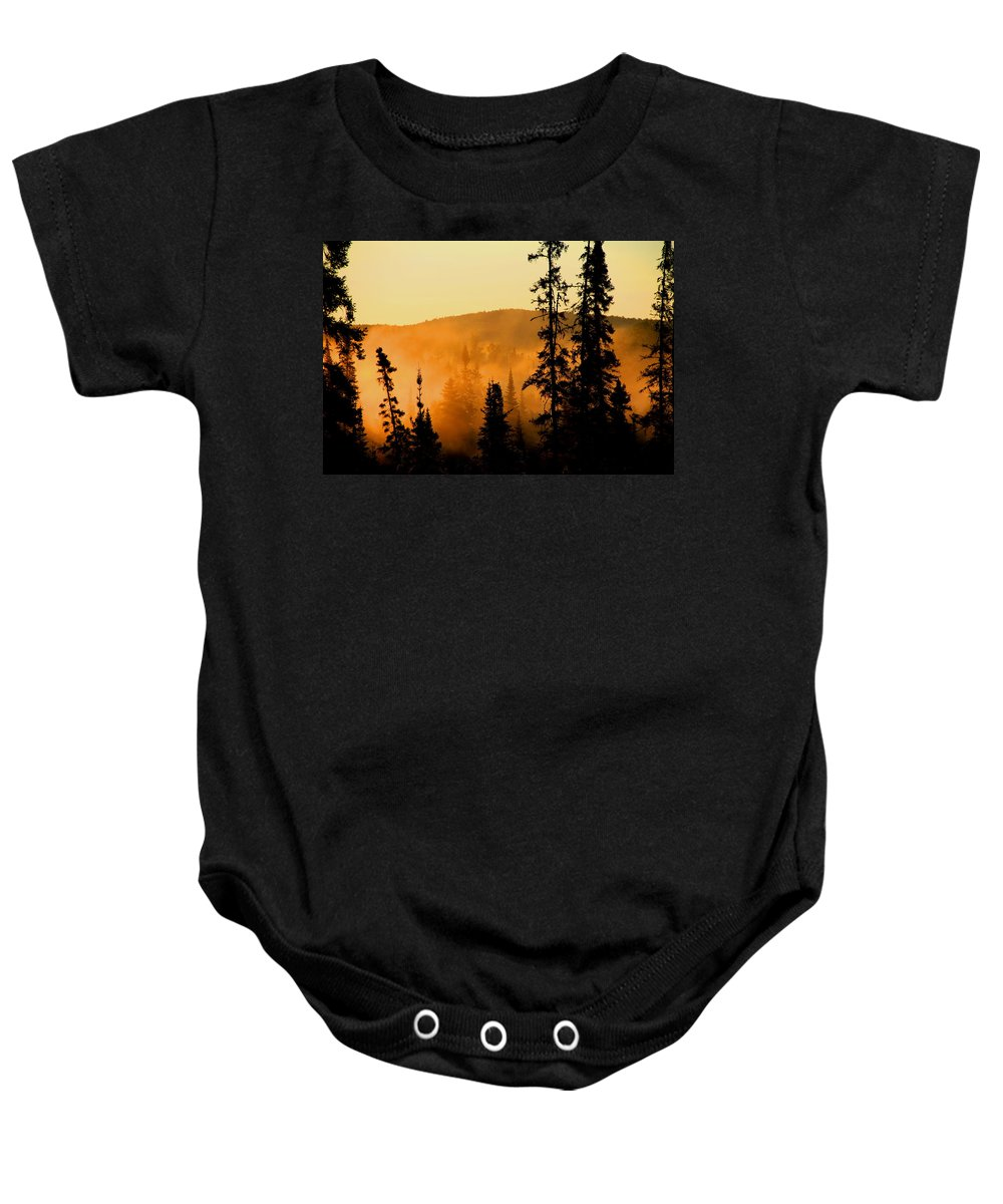 Photography Baby Onesie featuring the photograph Forest Glow by Joi Electa