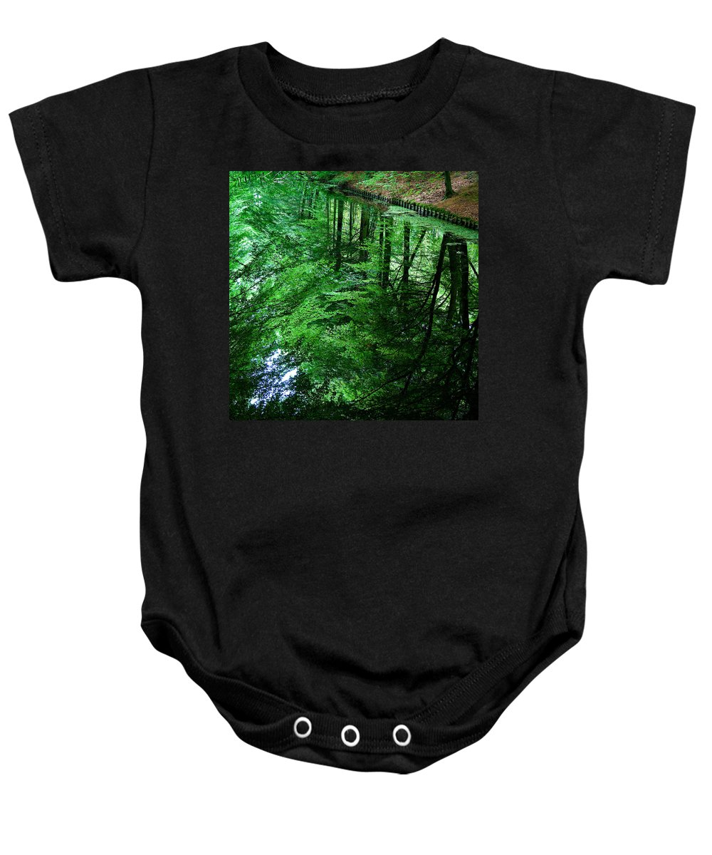 Forest Baby Onesie featuring the photograph Forest Reflection by Dave Bowman