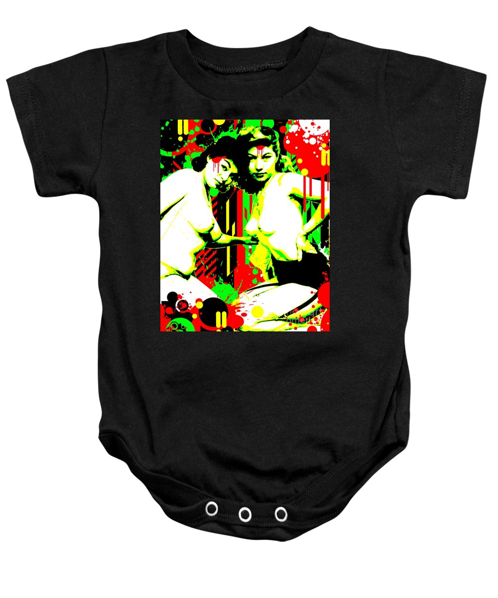 Nostalgic Seduction Baby Onesie featuring the digital art Forever Pinup II by Chris Andruskiewicz