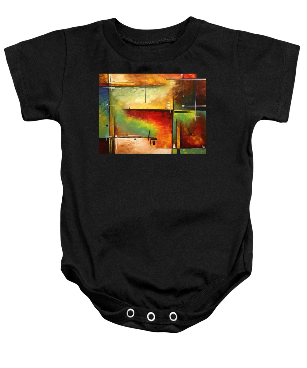 Abstract Baby Onesie featuring the painting Forgotten Promise By Madart by Megan Duncanson