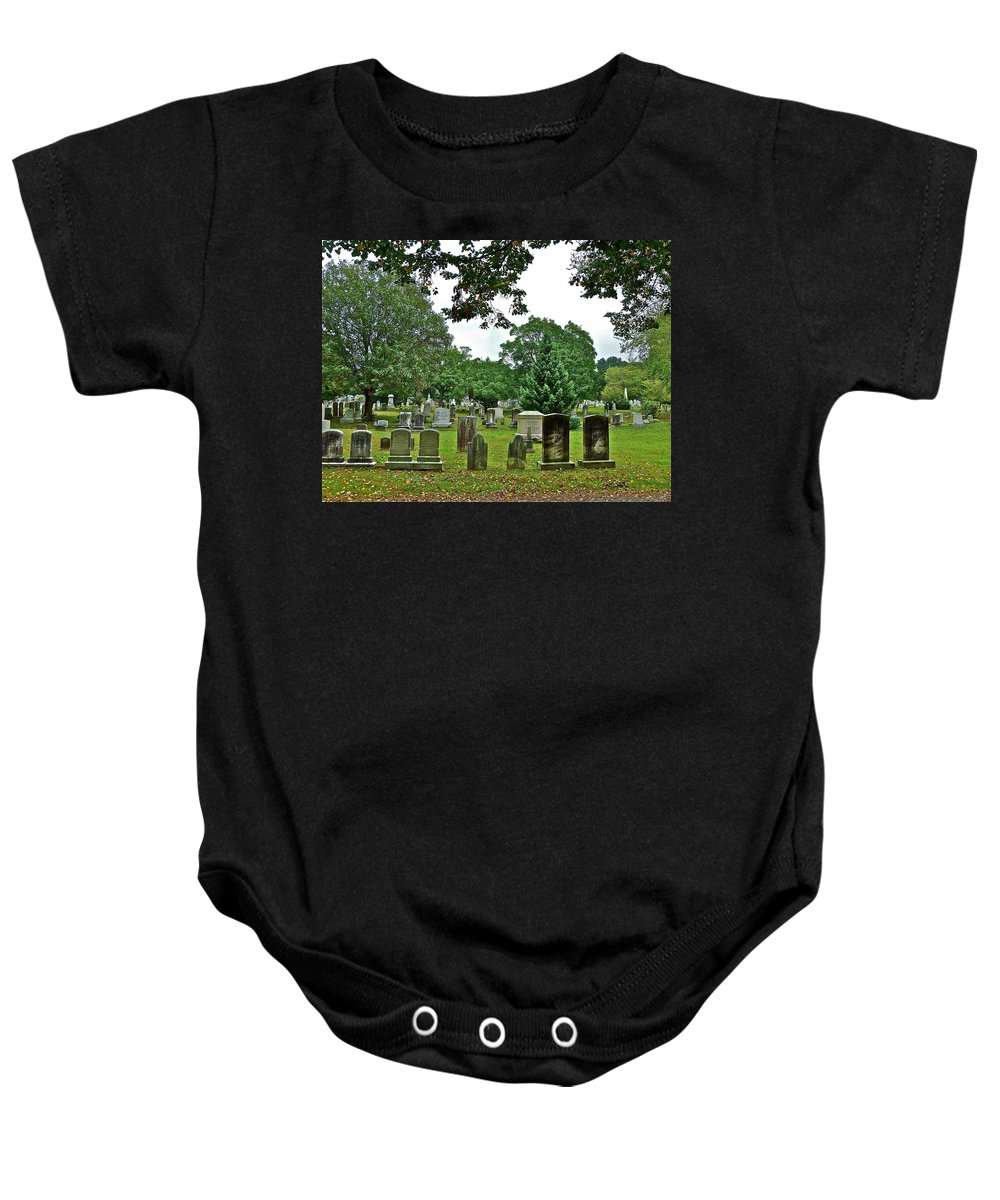 Graves Baby Onesie featuring the photograph Former Neighbors by Diana Hatcher