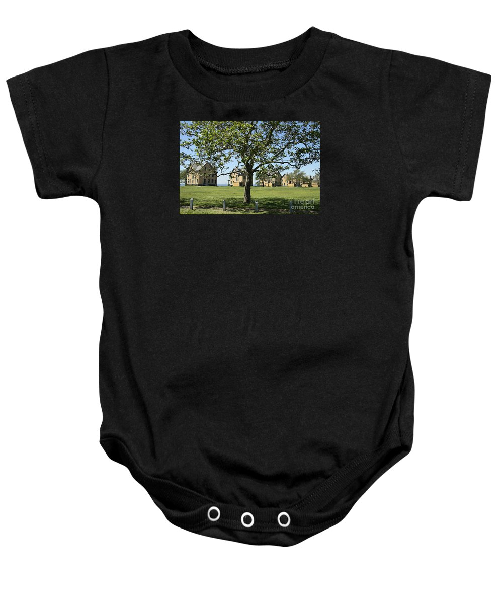 Fort Hancock Baby Onesie featuring the photograph Fort Hancock by Christiane Schulze Art And Photography