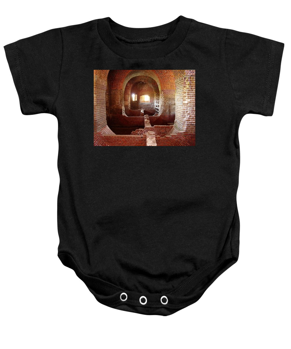 Fort Pulaski Baby Onesie featuring the photograph Fort Pulaski I by Flavia Westerwelle