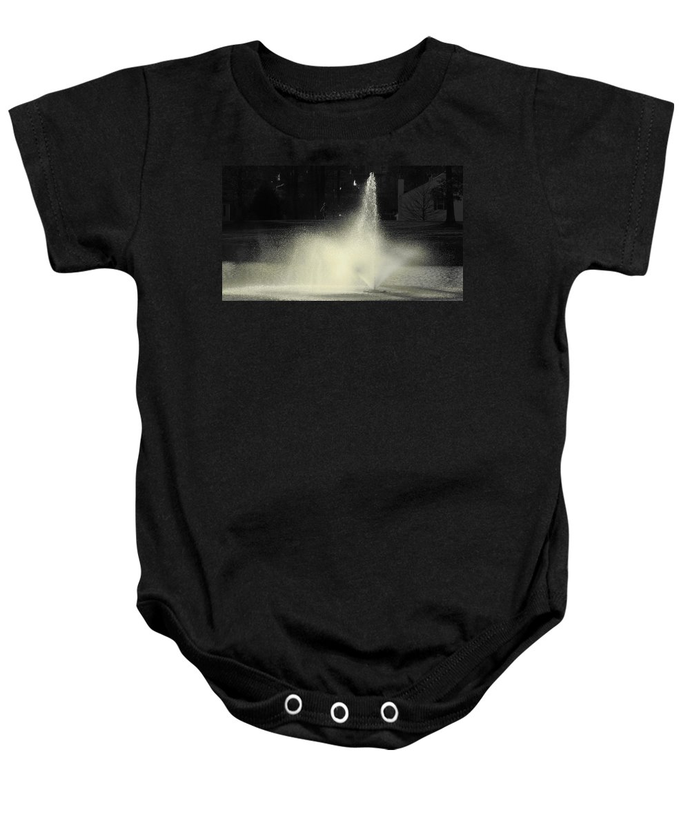 Water Baby Onesie featuring the photograph Fountain by Sarah Houser