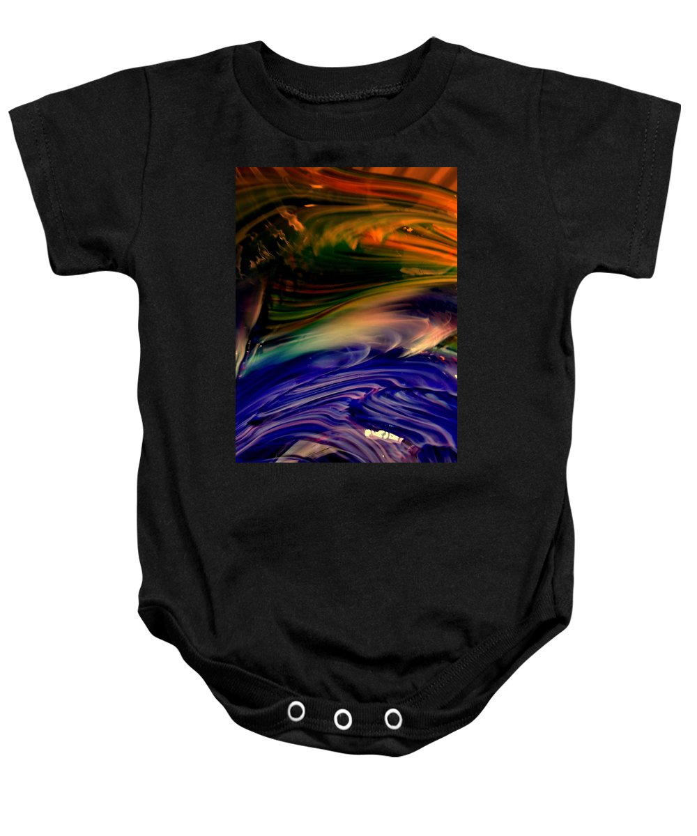 Abstract Baby Onesie featuring the photograph Fox Point by Erin Rednour