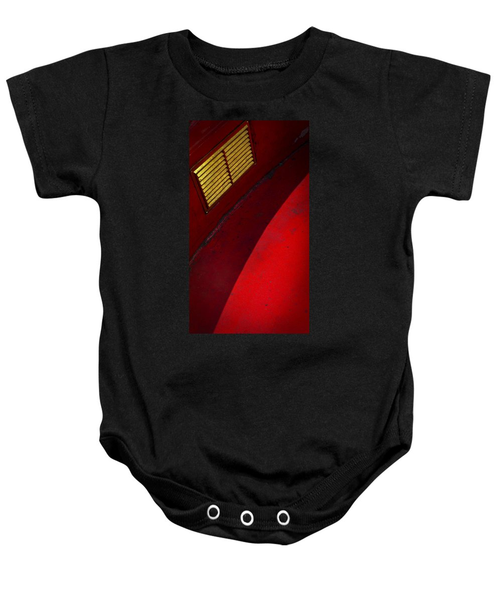 Skiphunt Baby Onesie featuring the photograph Foxy by Skip Hunt