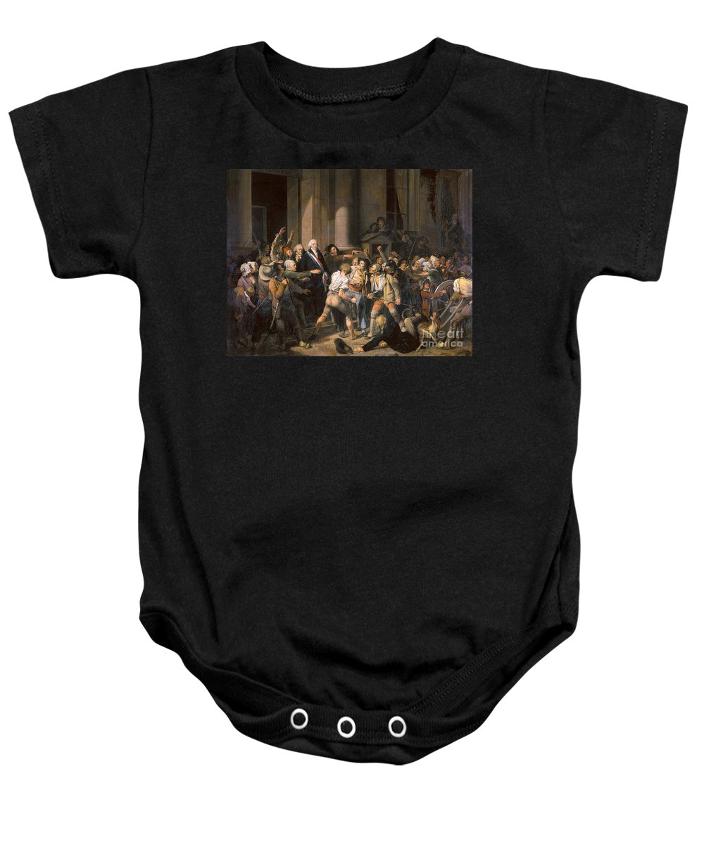1793 Baby Onesie featuring the photograph France: Bread Riot, 1793 by Granger