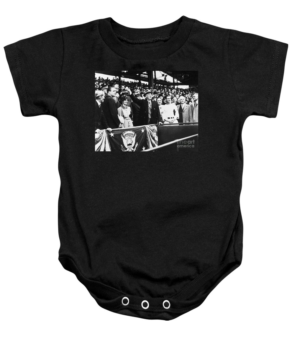 1936 Baby Onesie featuring the photograph Franklin D. Roosevelt by Granger