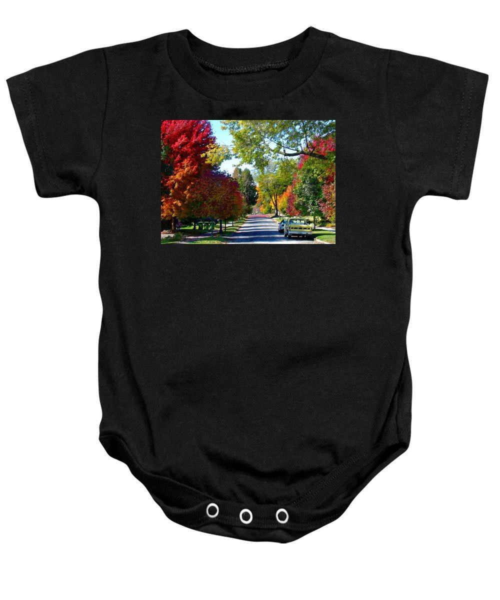 Landscape Baby Onesie featuring the photograph Franklin Street Liberty by Steve Karol
