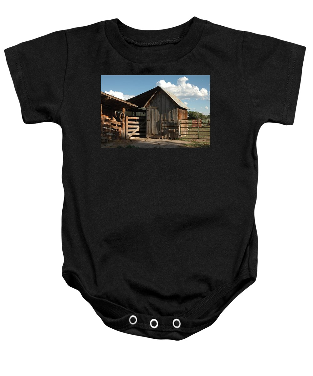 Barn Baby Onesie featuring the photograph Frank's Place by Jerry McElroy