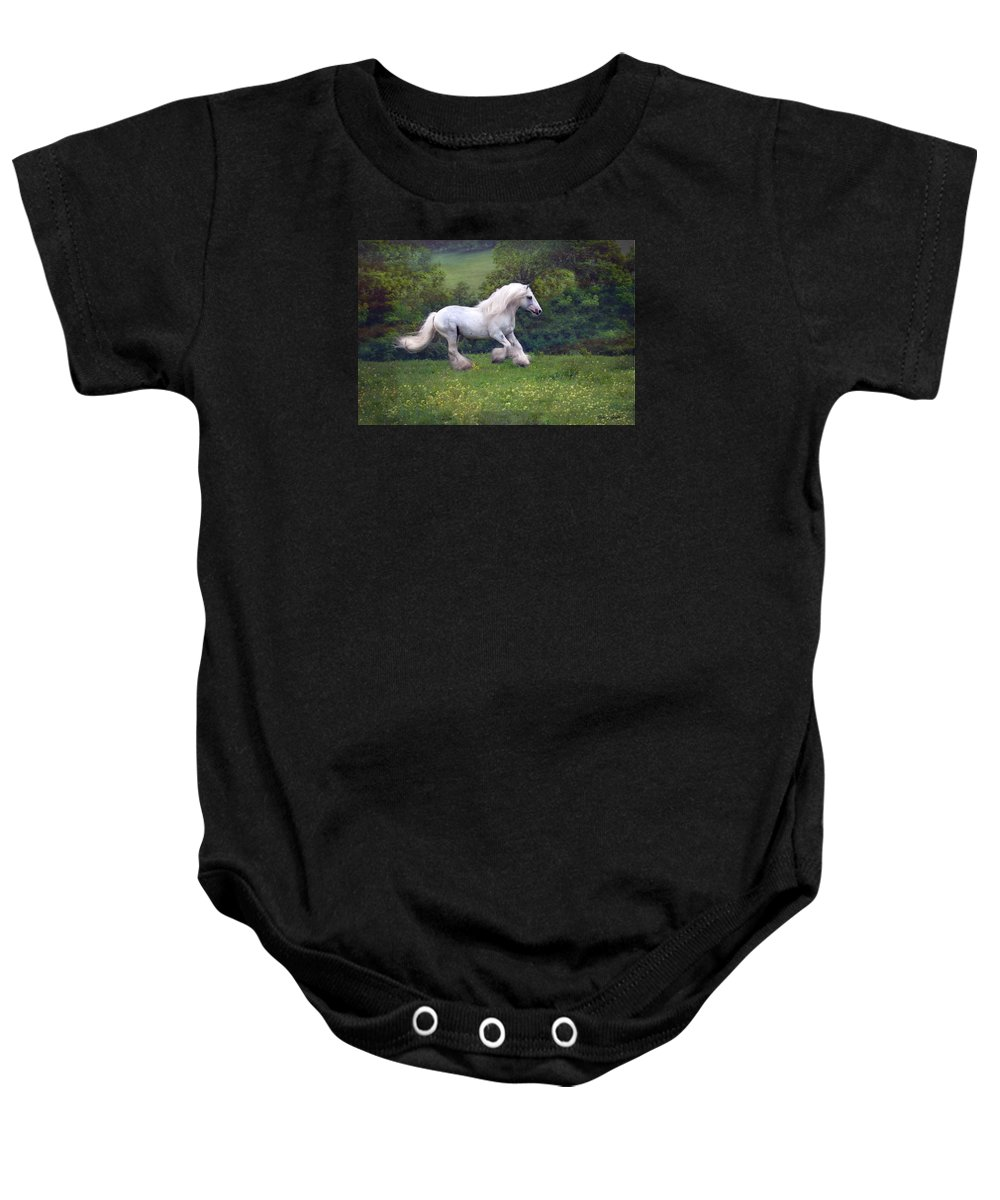Horse Baby Onesie featuring the photograph Free Billy by Fran J Scott