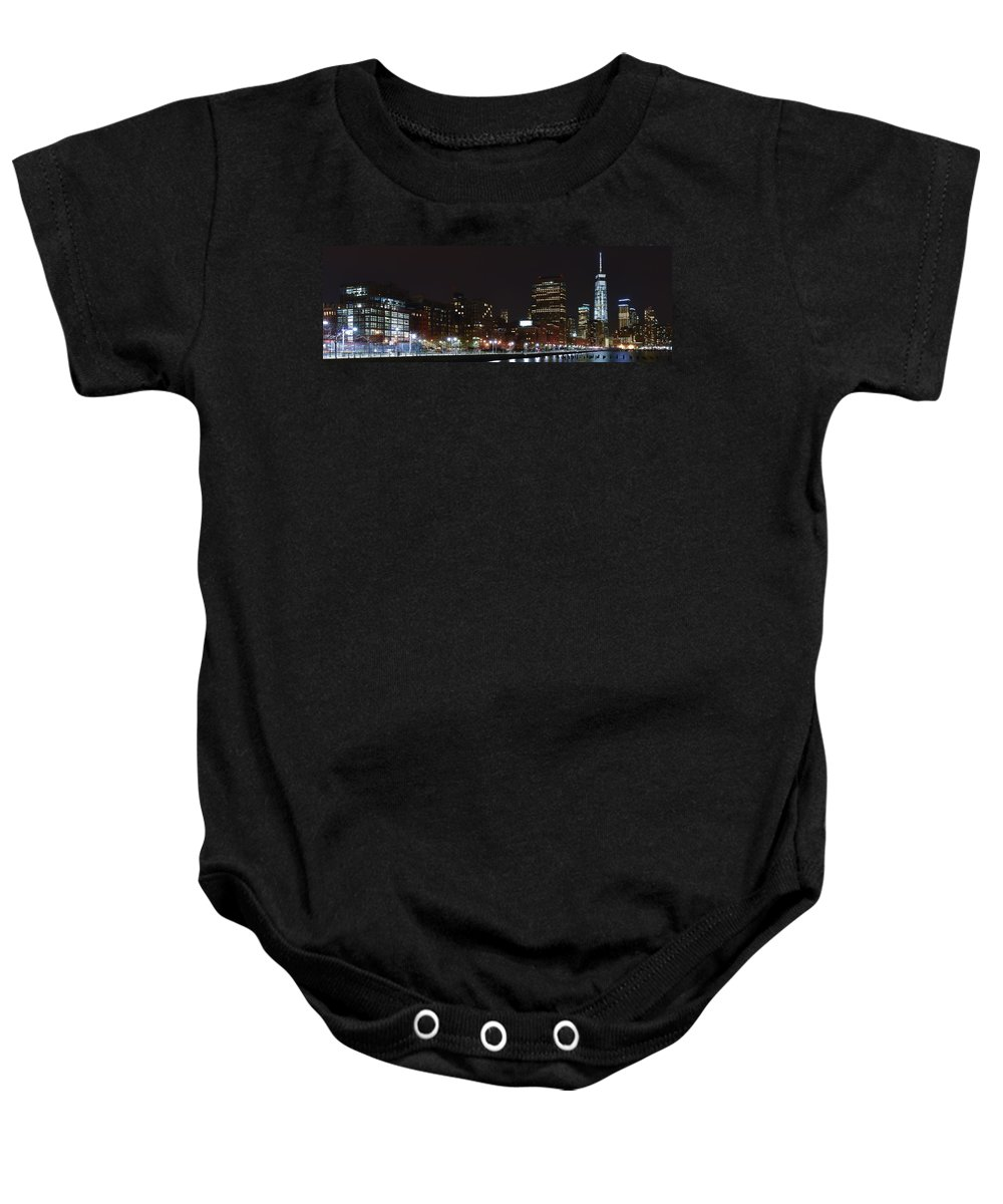 Freedom Tower Baby Onesie featuring the photograph Freedom Skyline by Theodore Jones