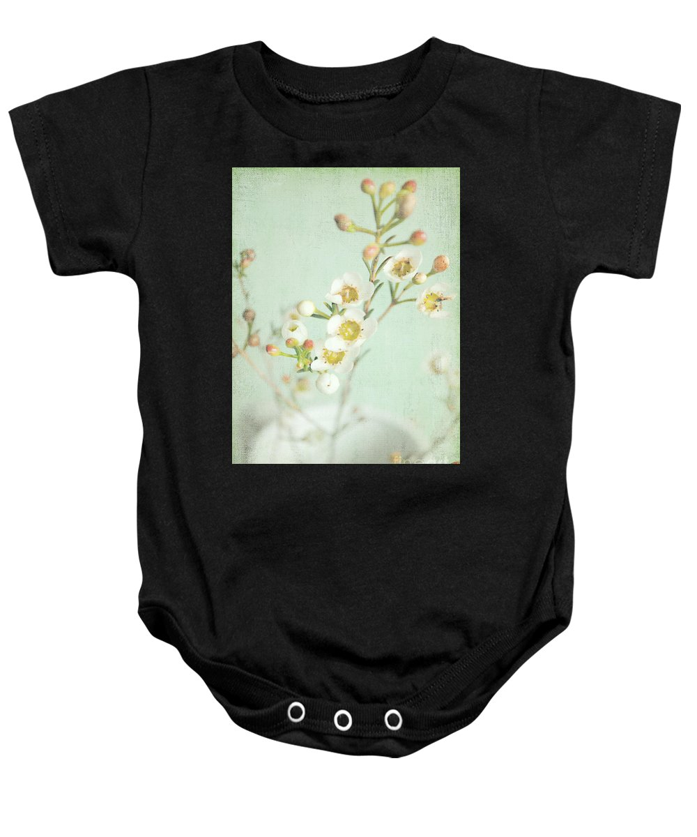 Blossom Baby Onesie featuring the photograph Freesia Blossom by Lyn Randle