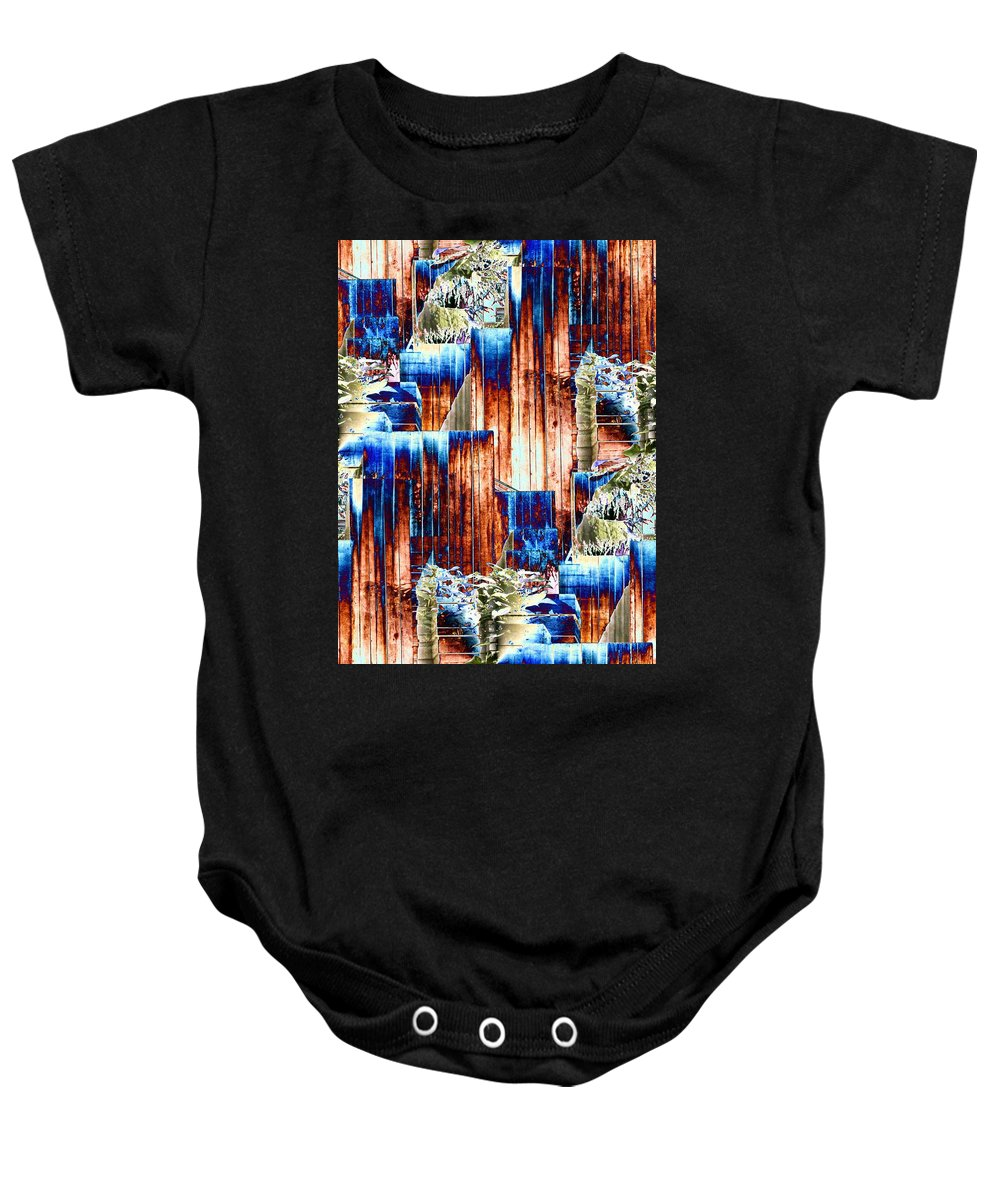 Seattle Baby Onesie featuring the photograph Freeway Park 5 by Tim Allen