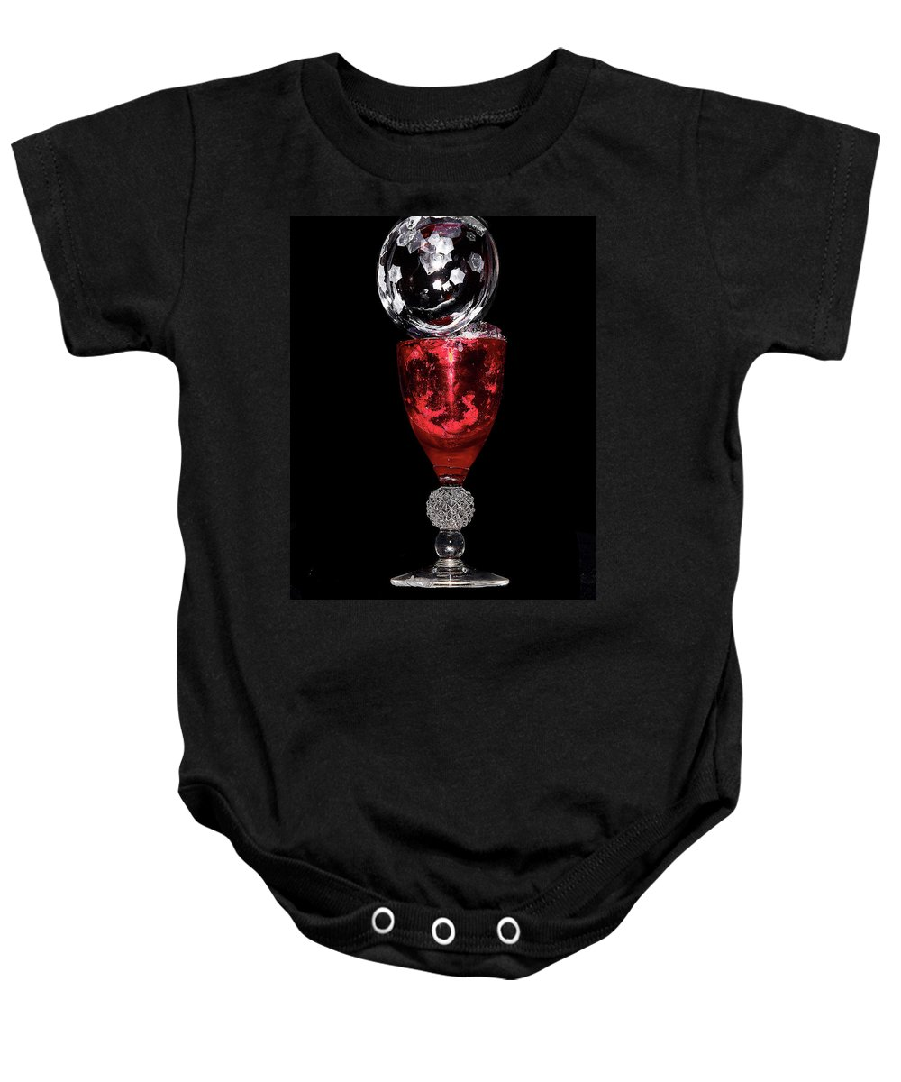 Red Baby Onesie featuring the photograph Freezing Bubble by David Hayden