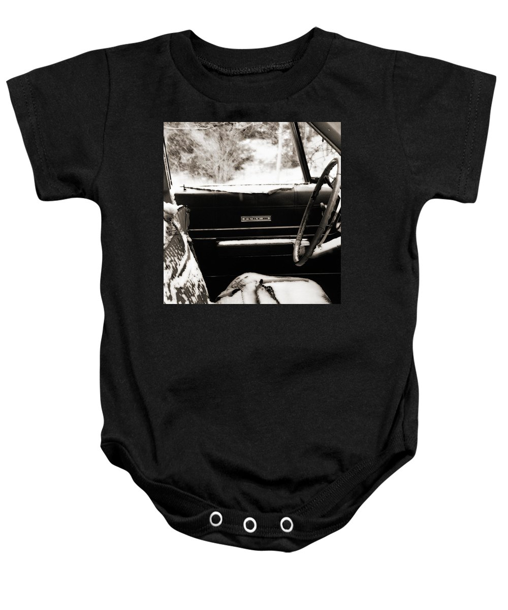 Car Baby Onesie featuring the photograph Freezing Fury by Marilyn Hunt