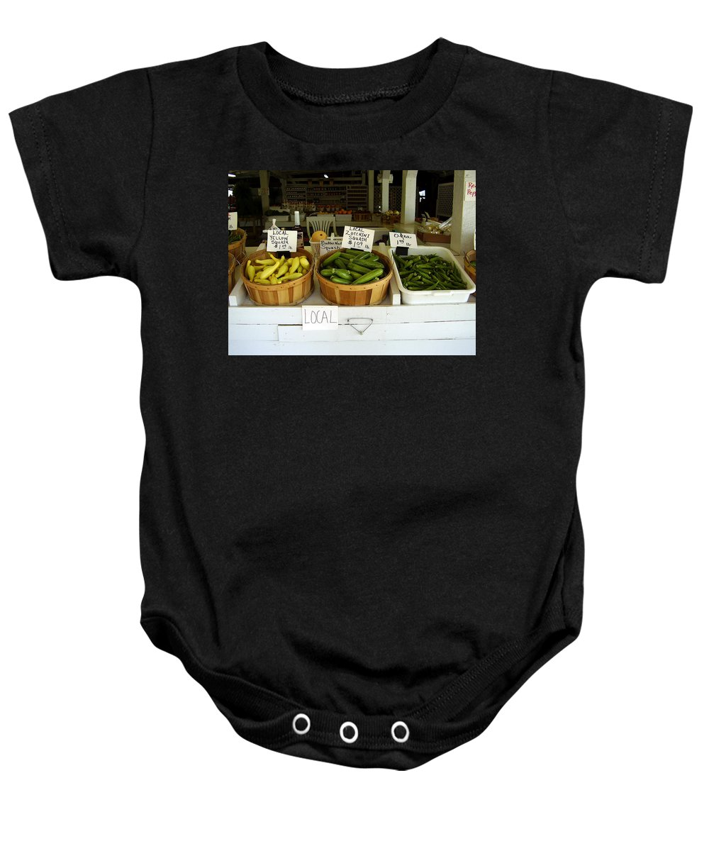 Fresh Produce Baby Onesie featuring the photograph Fresh Produce by Flavia Westerwelle