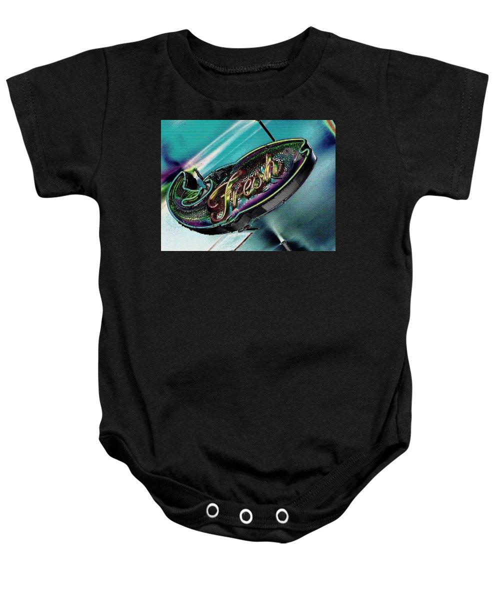 Fresh Baby Onesie featuring the photograph Fresh by Tim Allen