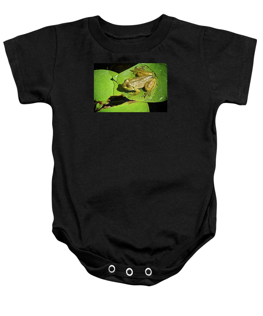 Frog Baby Onesie featuring the photograph Frog 2 by Robert Skuja