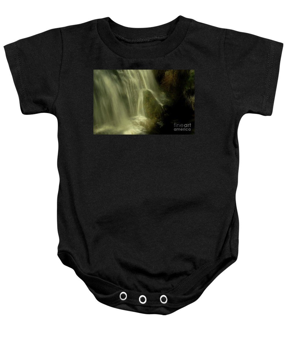 Water Falls Baby Onesie featuring the photograph Frog by Roland Stanke