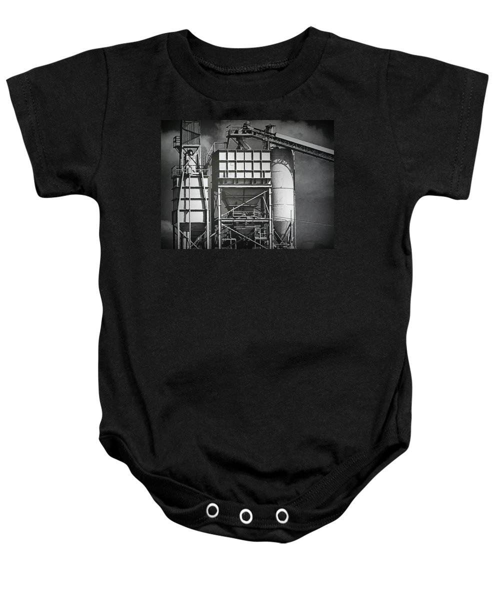 Industry Baby Onesie featuring the photograph From The Big Toolbox by Wendy J St Christopher