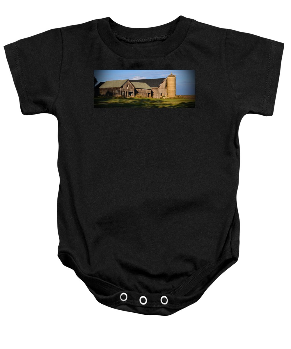 Fall Baby Onesie featuring the photograph From Thy Labors Rest by Tim Nyberg