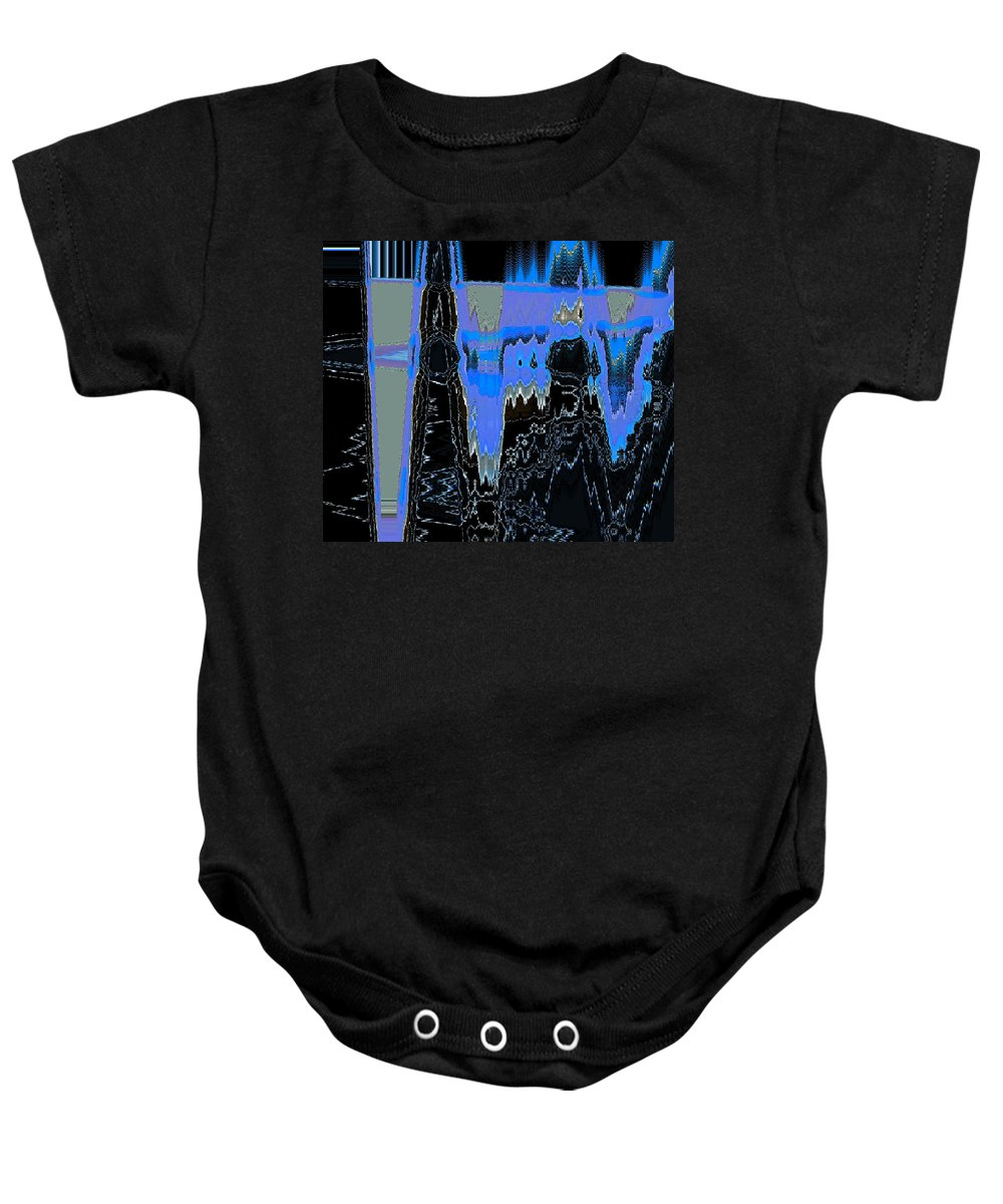 Abstract Baby Onesie featuring the digital art Frozen Air Conditioner by Lenore Senior