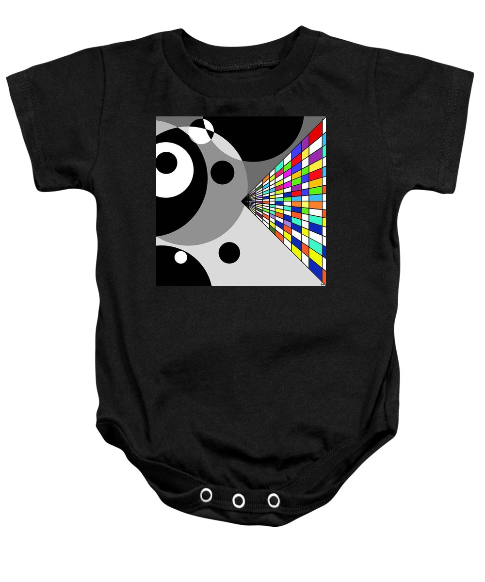 Candy Baby Onesie featuring the digital art Fruity by Yilmar Henry