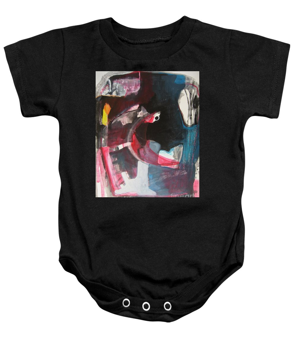 Abstract Paintings Paintings Abstract Art Paintings Baby Onesie featuring the painting Fumbling With Memory by Seon-Jeong Kim